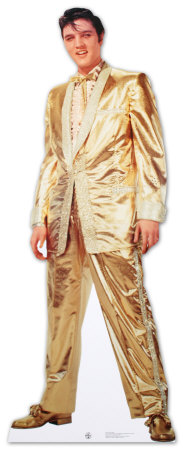 Elvis: Costume lam or (version parlante) Silhouette dcoupe