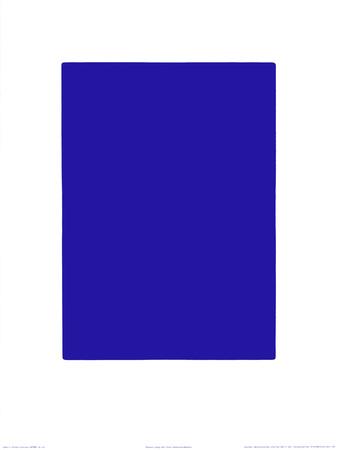 Untitled, Blue Monochrome, c.1961 (IKB73) Serigraph by Yves Klein
