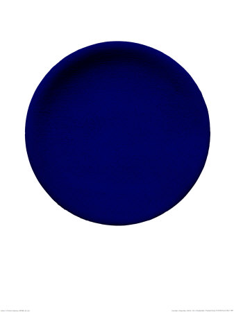 Blue Disk, c.1957 (IKB54) Serigraph by Yves Klein
