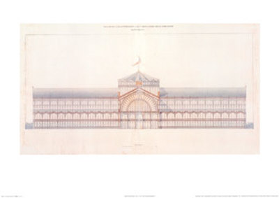 Cast Iron and Glass Industrial Pallet for the Champs-Elysees, Main Facade, c.1852 Art Print