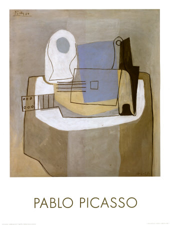 Guitar, Bottle and Fruit Bowl, c.1921 Posters by Pablo Picasso