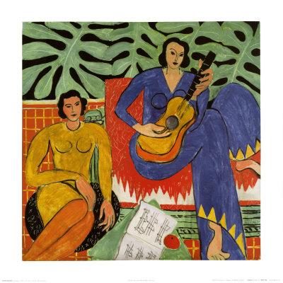 音楽 1939年 ポスター : アンリ・マティス