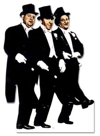 Three Stooges Cardboard Cutouts