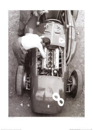 Ferrari Mechanic, French GP, 1954 Prints by Jesse Alexander