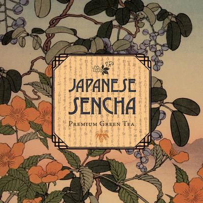 Japanese Sencha Kunstdrucke
