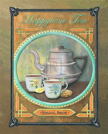 Happy Time Tea Kunstdrucke von Jan Sacca