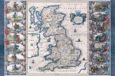 Antique Map, Britannia, c.1646 Poster by Joannes Jansson
