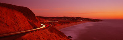 Pacific Coast Highway at Sunset, California, USA Photographic Print by  Panoramic Images
