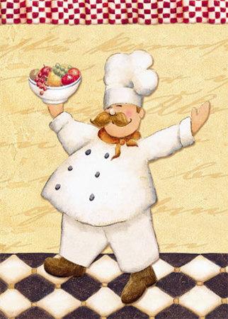 Le Chef et les Fruits Poster by Daphne Brissonnet