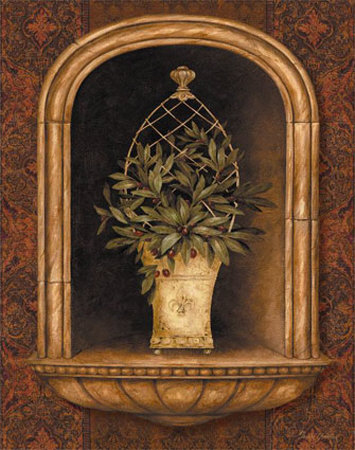 Olive Topiary Niches II Art by Pamela Gladding