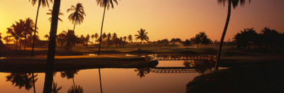 Golf Course at Sunset, Isla Navidad, Mexico Photographic Print by  Panoramic Images