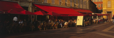 Cafe, Street Scene, Nice, France Photographic Print by  Panoramic Images