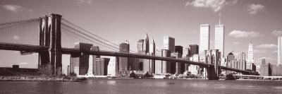 Brooklyn Bridge, Hudson River, New York City, New York State, USA Photographic Print by  Panoramic Images