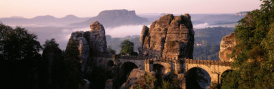 Bastei, Saxonian Switzerland National Park, Germany Photographic Print by  Panoramic Images