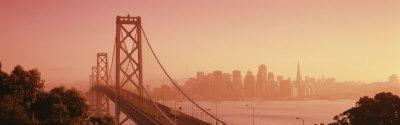 Bay Bridge, Skyline, City, San Francisco, California, USA Photographic Print by  Panoramic Images