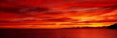 Sunrise, Water, Mulege, Baja, California, Mexico, United States Fotografisk tryk af Panoramic Images,