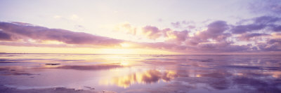 Sunrise on Beach, North Sea, Germany Photographic Print by  Panoramic Images