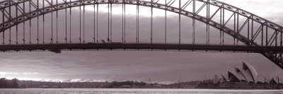 Harbor Bridge, Pacific Ocean, Sydney, Australia Photographic Print