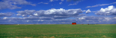 Field and Barn, Saskatchewan, Canada Photographic Print by  Panoramic Images
