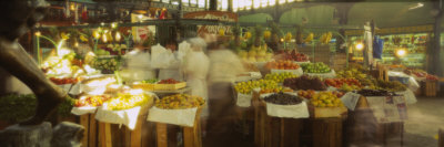 Fruits and Vegetables Stall in a Market, Mercado Central, Santiago, Chile Photographic Print by  Panoramic Images