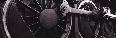Steam Locomotive Wheels Photographic Print by  Panoramic Images