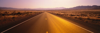 Desert Road, Nevada, USA Photographic Print