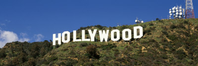 Hollywood Sign at Hollywood Hills, Los Angeles, California, USA Photographic Print by  Panoramic Images
