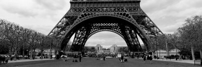 Black and White, Eiffel Tower, Paris, France Photographic Print by  Panoramic Images