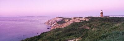 Lighthouse, Gay Head, Marthas Vineyard, Massachusetts, USA Photographic Print by  Panoramic Images
