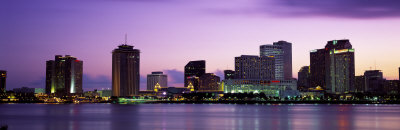 Dusk Skyline, New Orleans, Louisiana, USA Photographic Print by  Panoramic Images