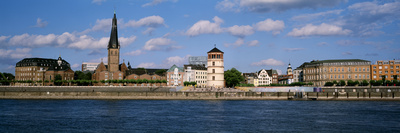 Rhine River, Dusseldorf, Germany Photographic Print by  Panoramic Images