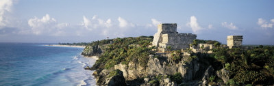 Temple of Descending God, El Castillo, Tulum, Mexico Photographic Print by  Panoramic Images