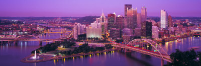 Dusk, Pittsburgh, Pennsylvania, USA Photographic Print by  Panoramic Images