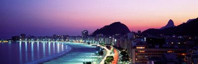 Copacabana Beach, Rio De Janeiro, Brazil Photographic Print by  Panoramic Images