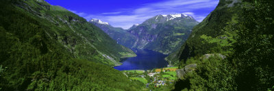 Geirangerfjord, Flydalsjuvet, More Og Romsdal, Norway Photographic Print by  Panoramic Images