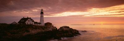Portland Head Lighthouse, Cape Elizabeth, Maine, USA Fotografie-Druck von  Panoramic Images