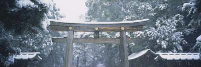 Entrance of a Temple, Tokyo Prefecture, Japan Photographic Print by  Panoramic Images
