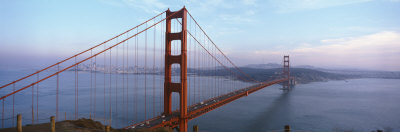 Traffic on a Bridge, Golden Gate Bridge, San Francisco, California, USA Photographic Print