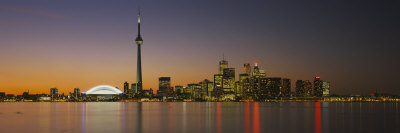 Toronto Skyline at Dusk, Ontario Canada Photographic Print by  Panoramic Images