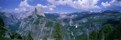 Nevada Fall and Half Dome, Yosemite National Park, California Photographic Print by  Panoramic Images