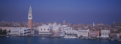 Aerial View of a City Along a Canal, Venice, Italy Photographic Print by  Panoramic Images