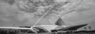 Clouds Over a Museum, Milwaukee Art Museum, Milwaukee, Wisconsin, USA Photographic Print by  Panoramic Images