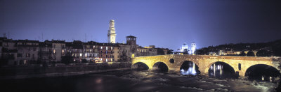 Ponte Pietra and Adige River, Verona, Italy Photographic Print by  Panoramic Images