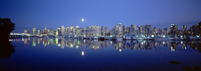 Vancouver Skyline, British Columbia, Canada Photographic Print by  Panoramic Images