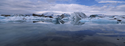 Ice Berg Floating on the Water, Vatnajokull Glacier, Iceland Photographic Print by  Panoramic Images