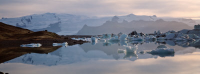 Iceberg Melting in the Water, Jokulsarlon, Iceland Photographic Print by  Panoramic Images