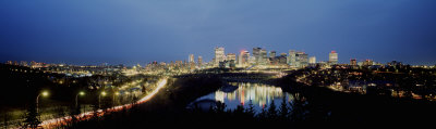High Angle View of a River, Saskatchewan River, Edmonton, Alberta, Canada Photographic Print by  Panoramic Images