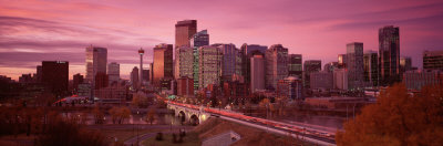 High Angle View of Centre Bridge, Calgary, Alberta, Canada Photographic Print by  Panoramic Images