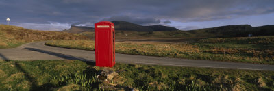 Telephone Booth in a Landscape, Isle of Skye, Highlands, Scotland, United Kingdom Photographic Print by  Panoramic Images