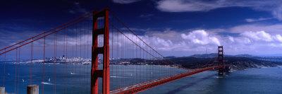 Bridge Over a River, Golden Gate Bridge, San Francisco, California, USA Photographic Print by  Panoramic Images